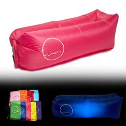 PERCH Brand Inflatable Lounger with LED Light