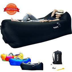 yeacar Inflatable Lounger Air Sofa, Portable Waterproof Indo