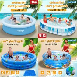 Inflatable Swimming Pool Center Lounge Family Kids Water Pla