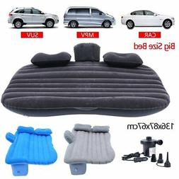 Inflatable Travel Car Mattress Air Bed Back Seat Sleep Rest