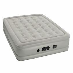 Insta Bed Raised Air Mattress With Never Flat Pump, Grey, Qu