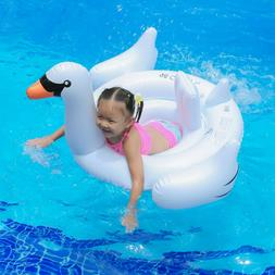 INT Giant White Mega Swan Inflatable Swimming Pool Toy Float
