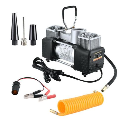 12V 150PSI Double Cylinder Air Pump Compressor Car Auto Tire