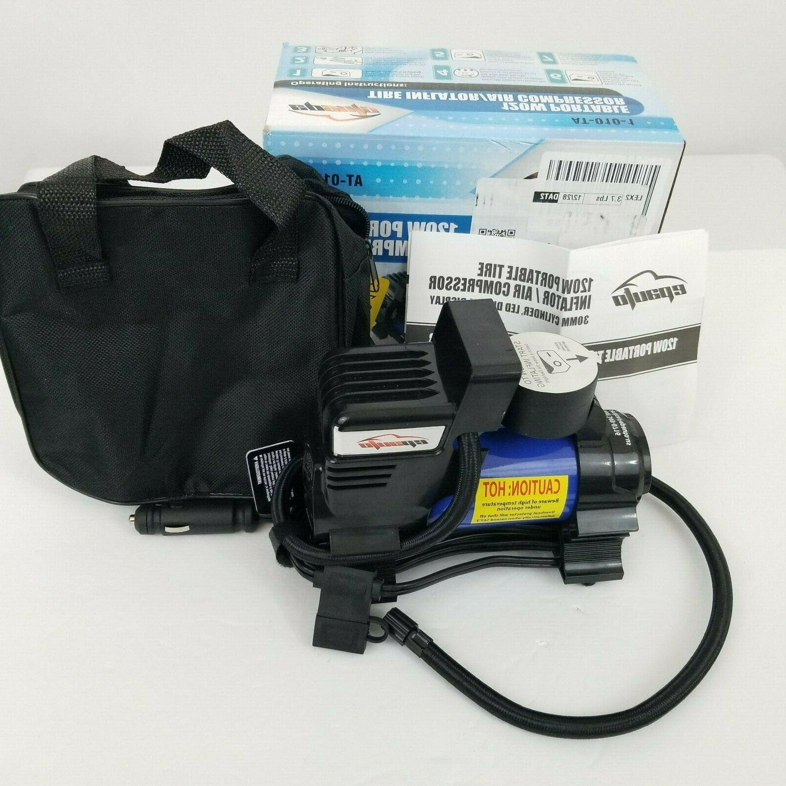 12v dc portable air compressor pump digital