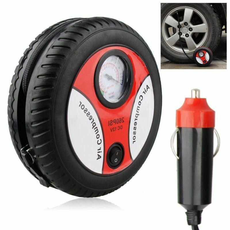 260PSI DC 12V Portable Electric Mini Tire Inflator Air Compr