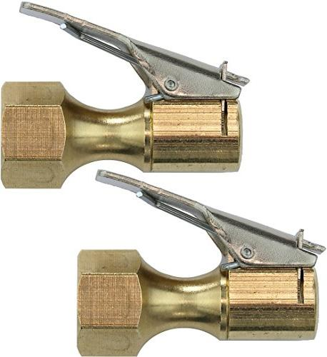 2 Pack - EPAuto Closed Flow Straight Lock-On Air Chuck with