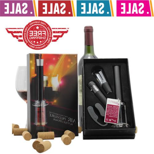 4 in 1  Air Pump Pressure Wine Bottle Opener Set Remover Cut
