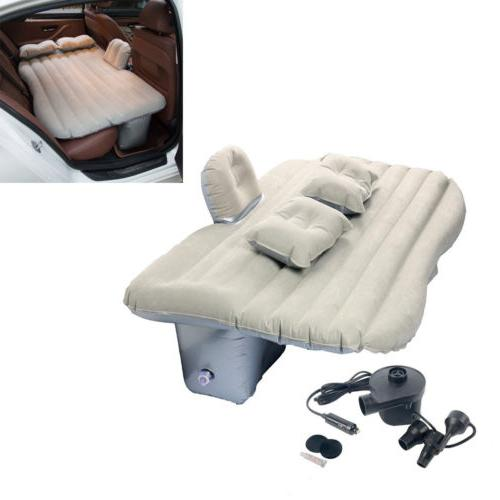 Car Air Bed Inflatable Mattress Back Seat Cushion Two Pillow