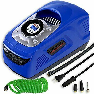 EPAuto DC 12V Portable Air w/Digital Tire Support for Cigarette and Outlet