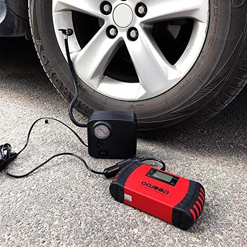 GOOLOO Portable Auto Compressor Pump Tire Electric DC 12V Bicycle or Basketballs, Air Bed Inflatables