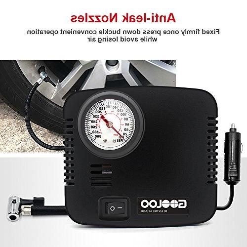 GOOLOO Auto Air Compressor 300PSI, Tire Inflator 12V Car, Bicycle or Bed Other Inflatables