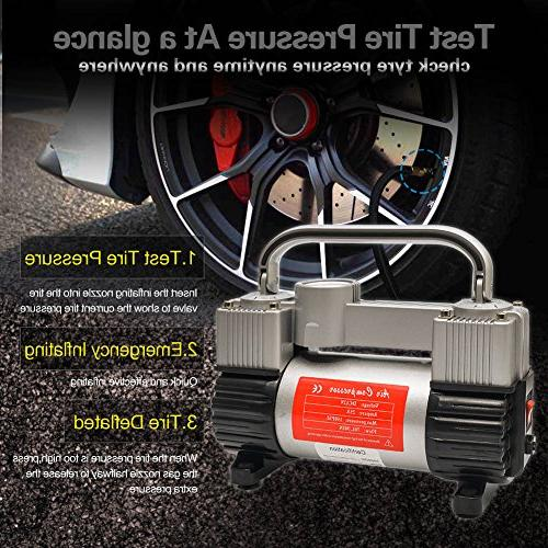 GSPSCN Tire Duty Portable Bag Air with 150 PSI for Car, SUV Dinghy,