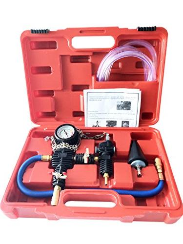 GooMeng4S System Vacuum Purge & Coolant Refill Kit with Carr