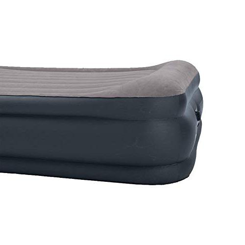 Intex Deluxe Raised Airbed Built-in Pillow Pump, Bed 16.75""