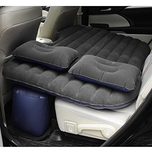 Yescom Inflatable Mattress Car Air Bed Backseat Cushion Travel Camping w//Pillow Pump