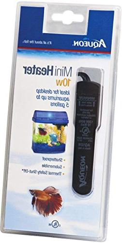 Aqueon Fish Tank Mini Heater, 10-watt, Plastic