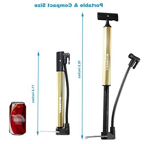 Kitbest Bike Alloy Portable Bike Pump, Mountain, & BMX Tire Pump, Floor Bicycle Pump with & Sports