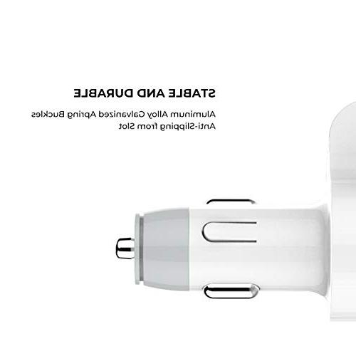 Car Charger, Larnn Fast Port Cigarette Extra Tube iPhone 8 8 Plus Samsung S8 LG V30 V20 Sony GPS MP3 Players
