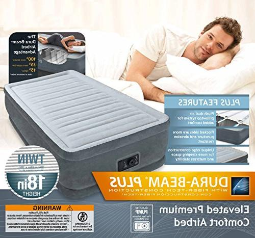 "Dura-Beam Airbed with Built-In Electric Pump, Bed 18"""", Twin"