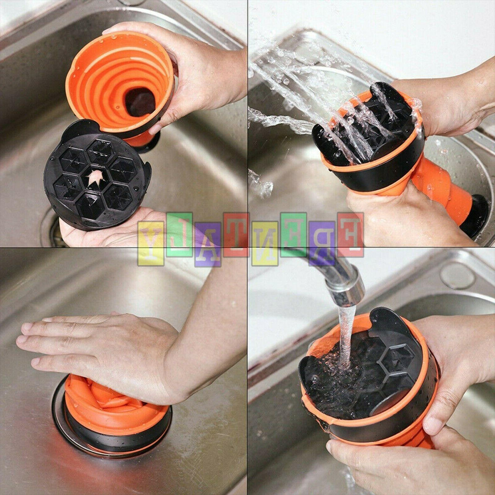 Drain Blaster Air Pump Sink Plunger Clogged Pipes Cleaner