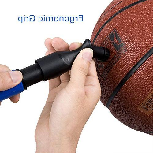 MIRACOL Action Pump 5 Needles, Sturdy Portable Design Air Pumps, Best for Basketball, Volleyball, Rugby Other