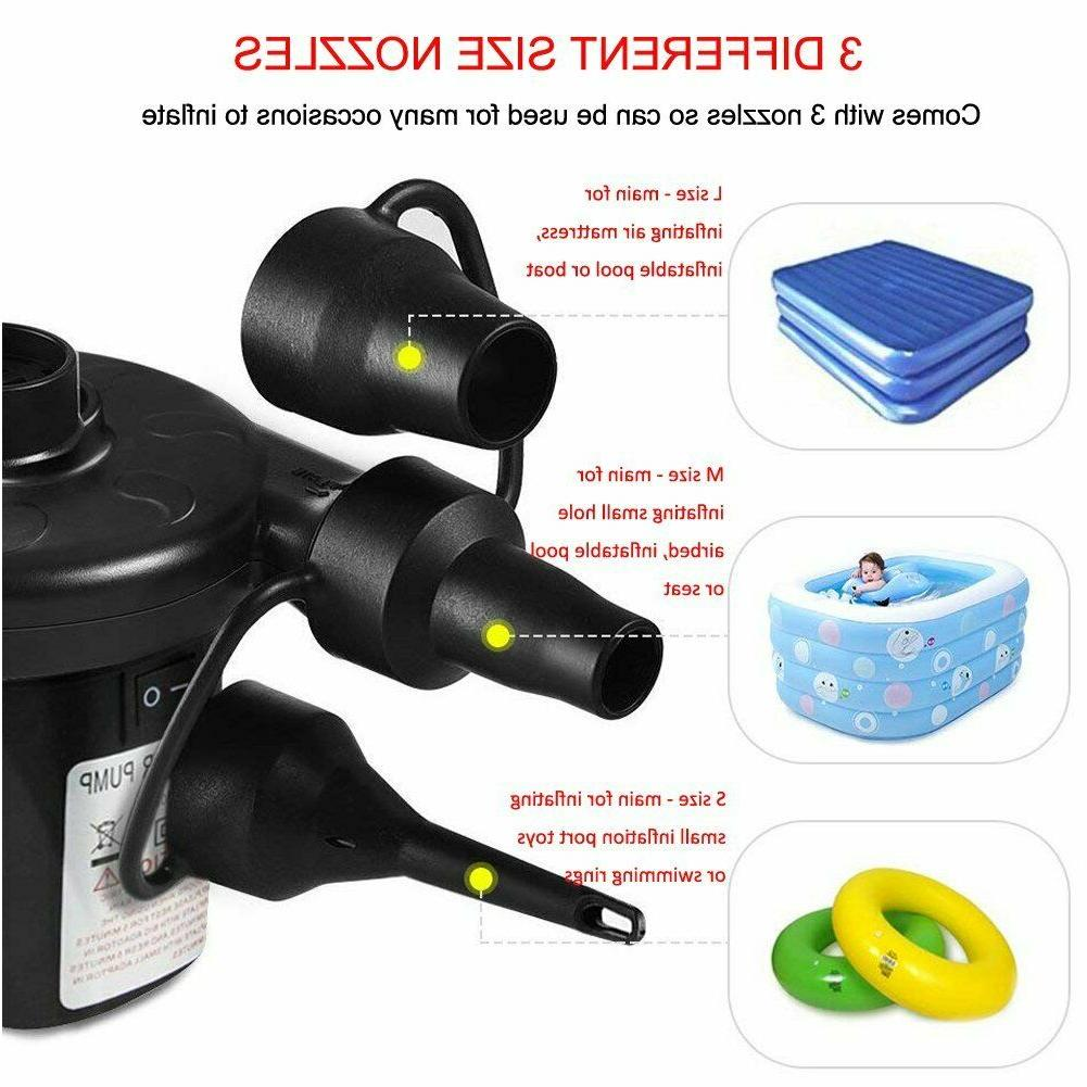 Electric AC/12V DC 3 Nozzles Inflator