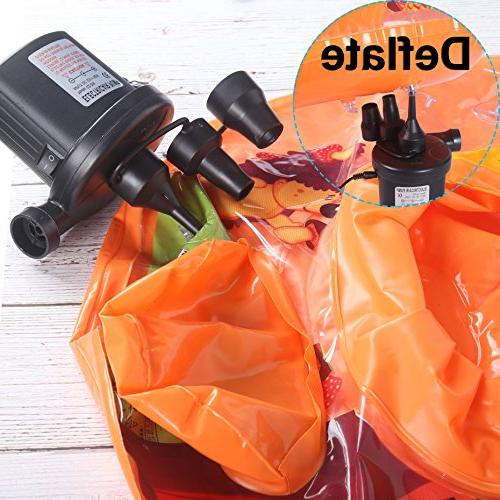 Skoloo Air Portable Pump 1 110V AC/12V Inflator Raft Float Bed Boat Paddling Toy with Multipurpose Nozzles