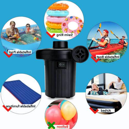 Electric Air Pump Swim Ring Inflatable Paddling Fast New