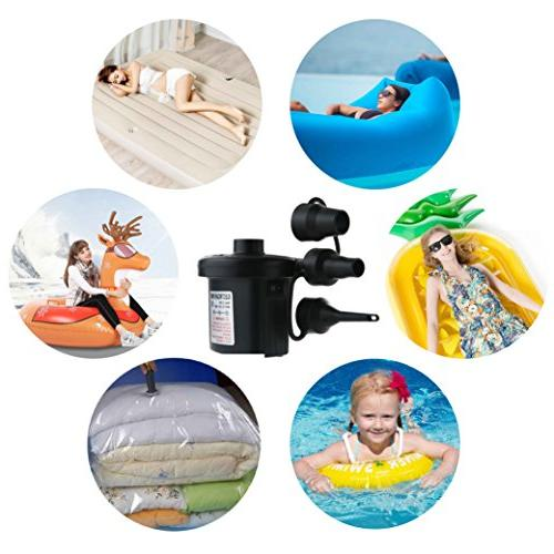 Jasonwell Air Portable Quick-Fill DC Inflator Air Mattress Floats Water Raft Bed Pool Toy with