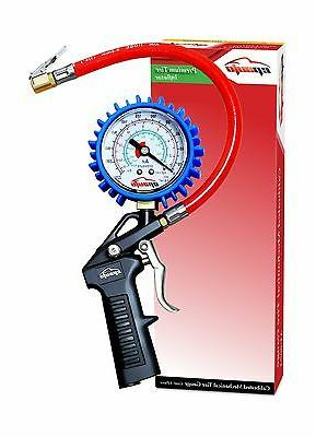 heavy duty tire inflator gauge with hose