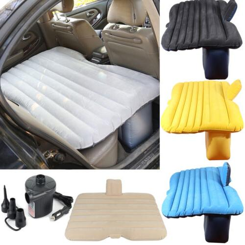 Inflatable Mattress Car Air Bed Back Seat Cover Cushions+ 2
