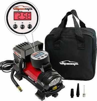 Portable Compressor Inflator 150 PSI Trucks Bikes