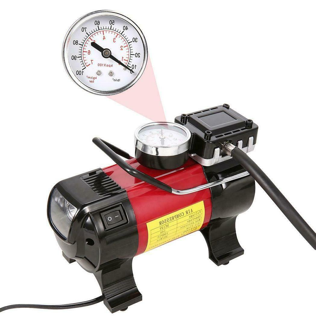 Portable Compressor Heavy Duty Inflator Tire Pump with LED NEW