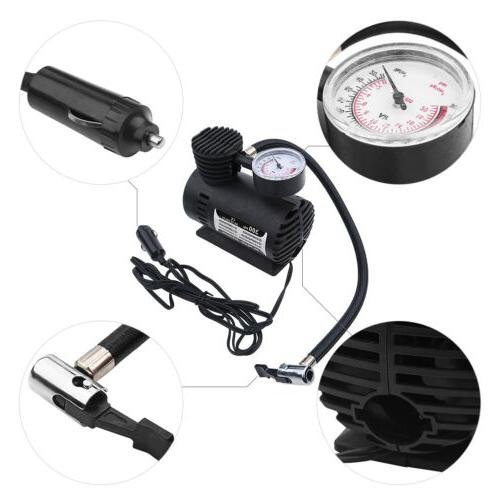Tire Inflator Mini Car Air Compressor Portable DC 300