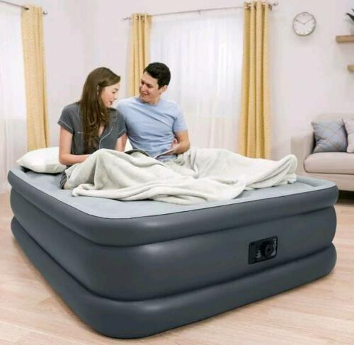queen size air bed mattress with built