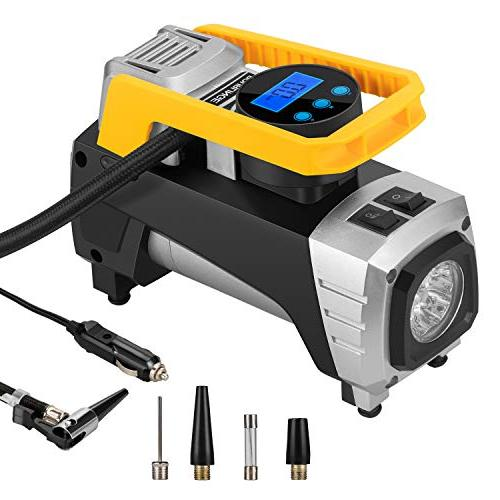 rourlinge 12V DC Portable Air Compressor Pump, 150 PSI Car D