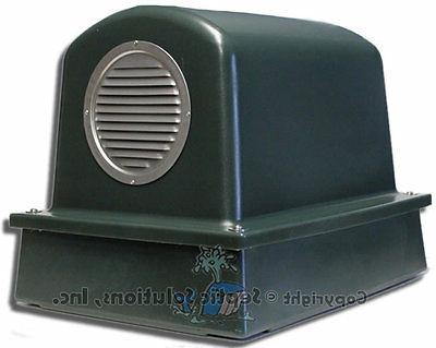 septic air pump housing cover and base