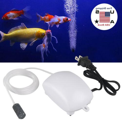 Aquarium Air Pump One Outlet Aerator Oxygen Hose Quiet Compr