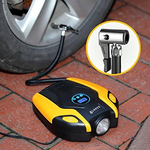 BREEZZ Tire compressor 12V Portable Auto with Gauge up to for Car, and Other