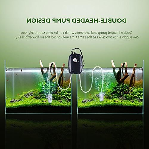 VicTsing Silent High Out Energy Efficient Air Fish Tank Oxygen AirPump Air 2M Silicone Tube