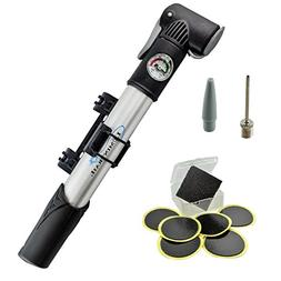 Lumintrail Mini Bike Pump with Gauge and Glueless Puncture R