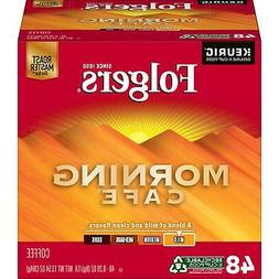 Folgers Morning Cafe K-Cup Coffee Pods, Light Roast, 48 Coun