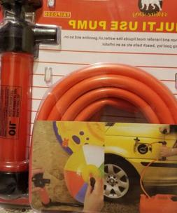 New MULTI USE Air Pump + Auto Gas Water OIL SIPHON Syphon Ho