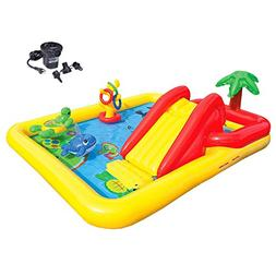 Intex Ocean Play Center Kids Inflatable Wading Pool + Quick