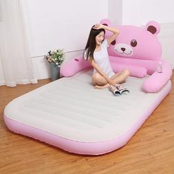 Pink/Gray Deluxe inflatable headboard <font><b>air</b></font