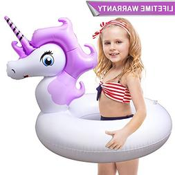 Pool Floats for Kids,Unicorn Pool Float with with Rapid Valv