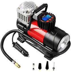 Tcisa Portable Air Compressor Pump 150 PSI, 12V 140W Auto Di