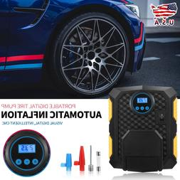 Portable Tire Inflator Car Air Pump Compressor Electric Auto
