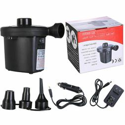 Pro Electric Air Pump Inflator Deflate 3 Nozzles for Air Bed
