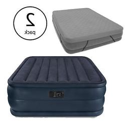 Intex Queen Inflatable Airbed with Built-in Pump and Mattres